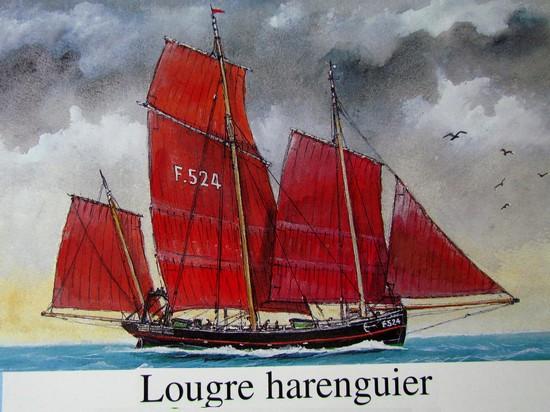 Modélisme naval - Lougre Harennguier BOIS ROSE